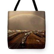 Rainbow Over Moose Jaw Saskatchewan Tote Bag
