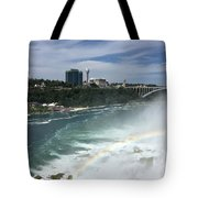 Rainbow Over Niagra Falls Tote Bag