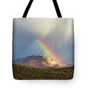 Rainbow Over Picketpost Tote Bag