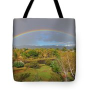 Rainbow Over The Araknsas Tote Bag