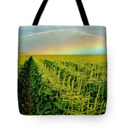 Rainbow Over The Cornfields Tote Bag