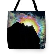 Rainbow Over The Pyramid Club Tote Bag