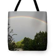 Rainbow Over The Trees Tote Bag