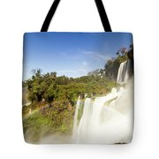 Rainbow Over The Waterfall Tote Bag