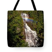 Rainbow Over Whitewater Falls Tote Bag