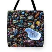 Rainbow Pebbles Tote Bag by Laura Roberts