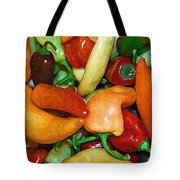 Rainbow Peppers Tote Bag