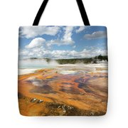 Rainbow Pool In Yellowstone National Park Tote Bag