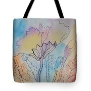Rainbow Poppies Tote Bag