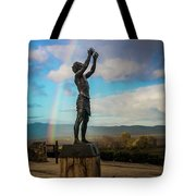 Rainbow Reach To The Sky  Tote Bag