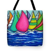 Rainbow Regatta Tote Bag