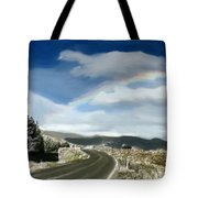 Rainbow Road - Id 16217-152042-9570 Tote Bag
