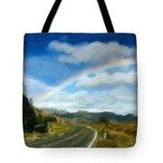 Rainbow Road - Id 16217-152055-0118 Tote Bag