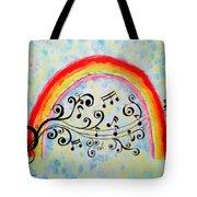 Rainbow Sings Tote Bag