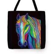 Rainbow Stallion Tote Bag