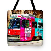 Rainbow Streetcar Tote Bag