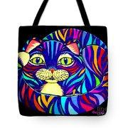 Rainbow Striped Cat 2 Tote Bag