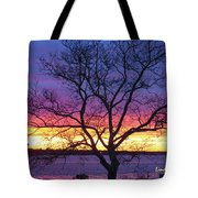 Rainbow Sunset Tote Bag