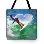 Rainbow Surf Day Tote Bag