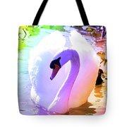 Rainbow Swan Tote Bag