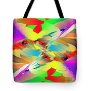 Rainbow Tornado Tote Bag