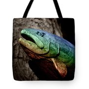 Rainbow Trout Wood Sculpture Tote Bag