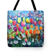 Rainbow Tulips Tote Bag