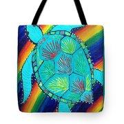 Rainbow Turtle Tote Bag