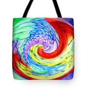 Rainbow Twirl Tote Bag