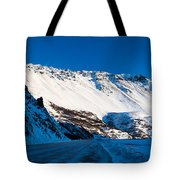 Rainbow Wall In Winter Tote Bag