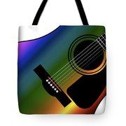 Rainbow Western Guitar Tote Bag