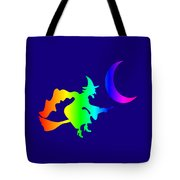Rainbow Witch Tote Bag