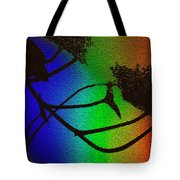 Rainbows And Stary Clouds Tote Bag