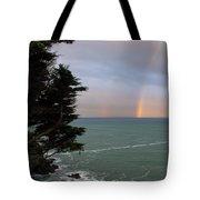 Rainbows Over The Ocean At The Mendocino Coast Tote Bag
