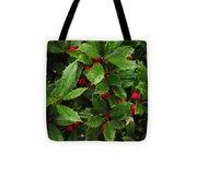 Raindrop Holly Tote Bag