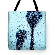 Raindrop Palms Tote Bag