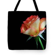 Raindrop Rose Tote Bag by Tracy Hall