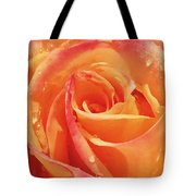 Raindrops And Petals Tote Bag