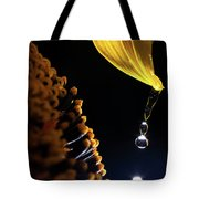 Raindrops From Sunflower Petal Tote Bag