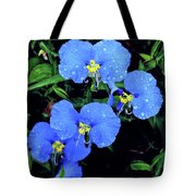 Raindrops In Blue Tote Bag