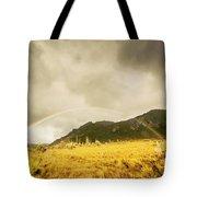 Raindrops In Rainbows Tote Bag
