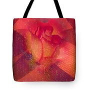 Raindrops On A Beautiful Rosebud Tote Bag