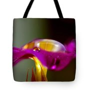 Raindrops On A Pink Flower Tote Bag