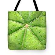 Raindrops On Leaf Tote Bag