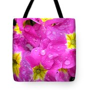 Raindrops On Pink Flowers 2 Tote Bag