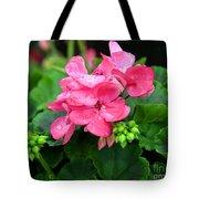 Raindrops On Pink Geranium Tote Bag