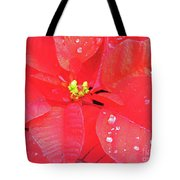 Raindrops On Red Tote Bag