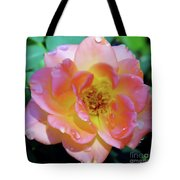 Raindrops On The Pink Rose Tote Bag