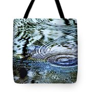 Raindrops On Water Tote Bag