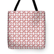 Raindrops Red Pattern Tote Bag